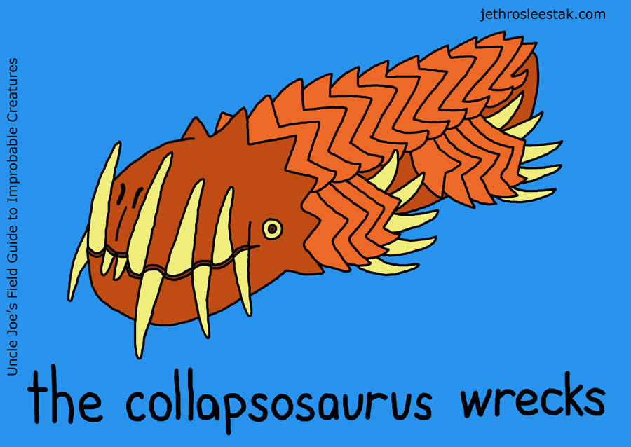 The Collapsosaurus Wrecks Trading Card
