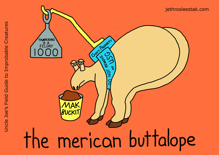 The Merican Buttalope Trading Card