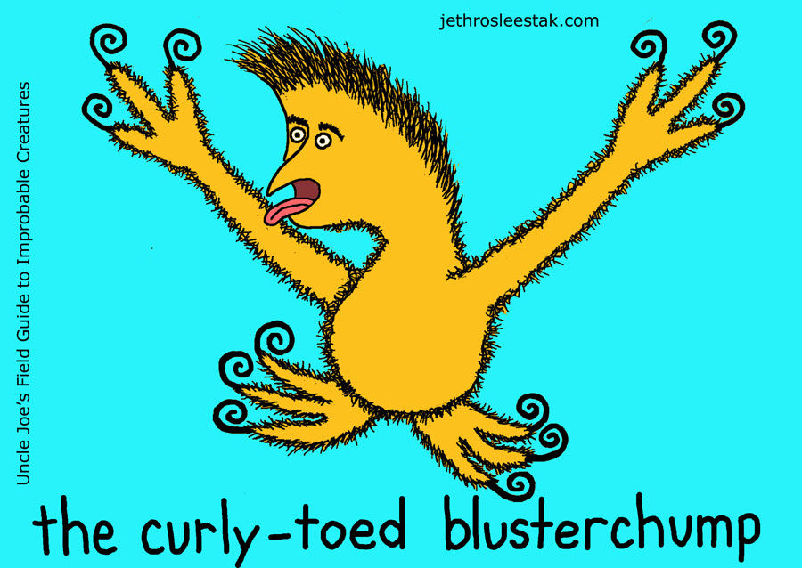 The Curly-Toed Blusterchump Trading Card