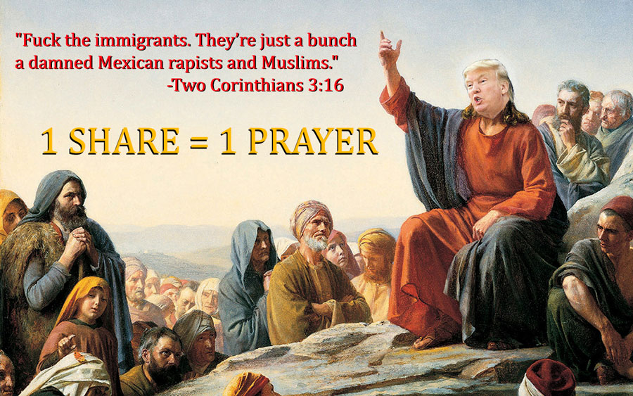 Trump Preaches the Beatitudes