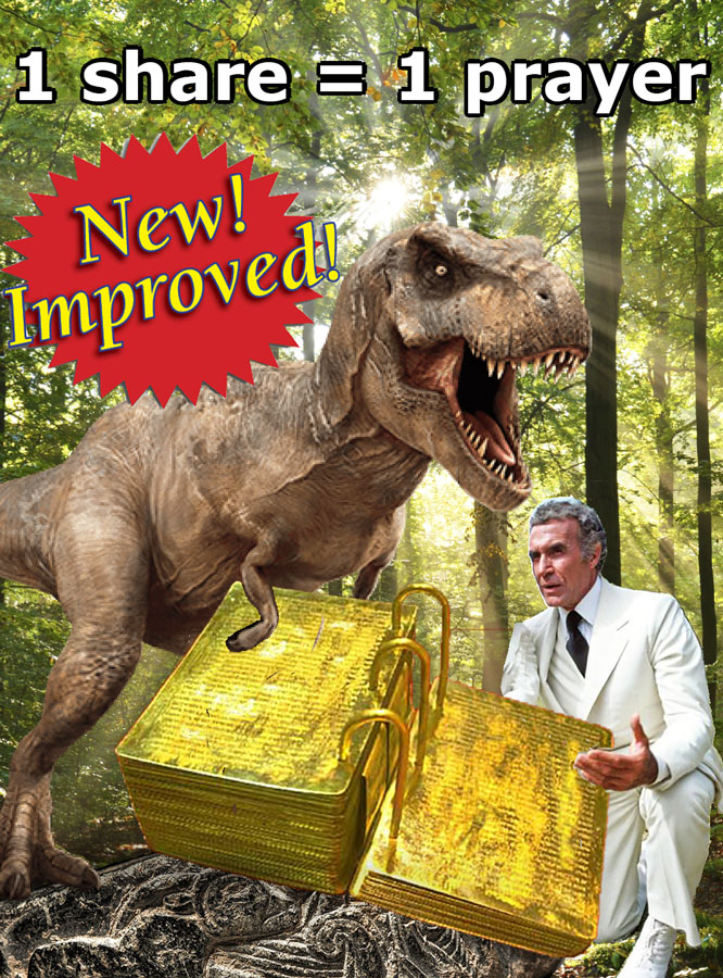 Jethro Sleestak Receives The New and Improved Golden Plates from The Angel Velociraptor