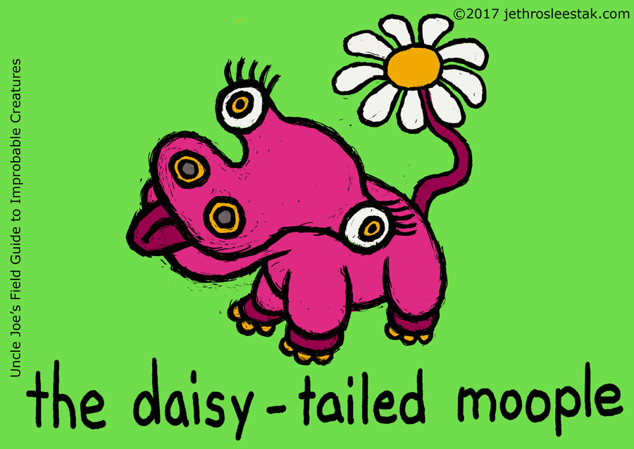 The Daisy-Tailed Moople Trading Card