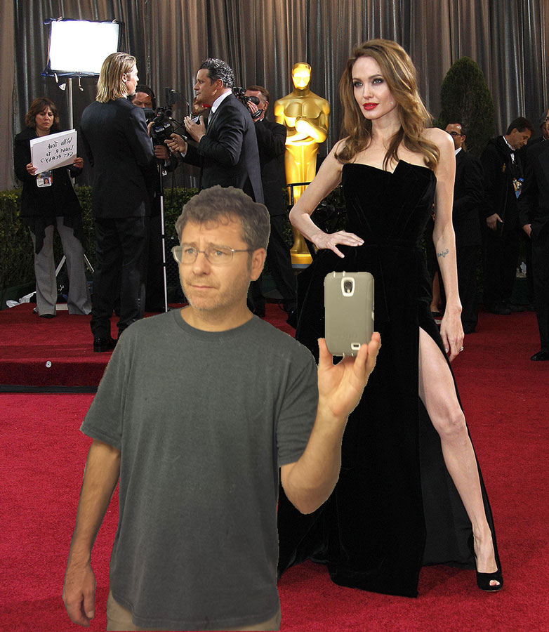 With my blind date at the Oscars. Supposedly she is some celebrity (according to her).