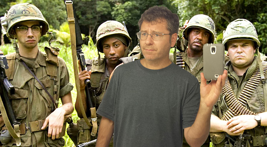 "Me with the guys back in Nam. My autobiographical war novel ""The Screaming Hell of Pointless Agony"" is being adapted as an illustrated childrens book."