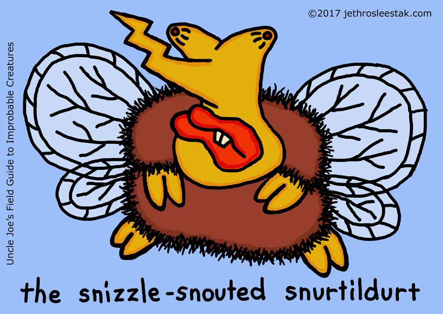 The Snizzle-Snouted Snurtildurt Trading Card