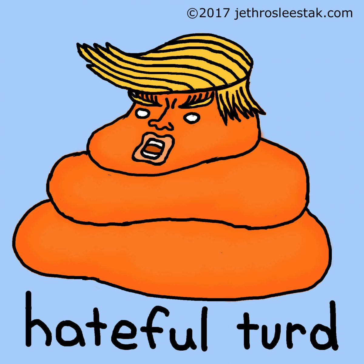 Hateful Turd Comic Strip Character v2