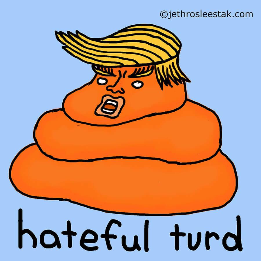 Hateful Turd Comic Strip Character