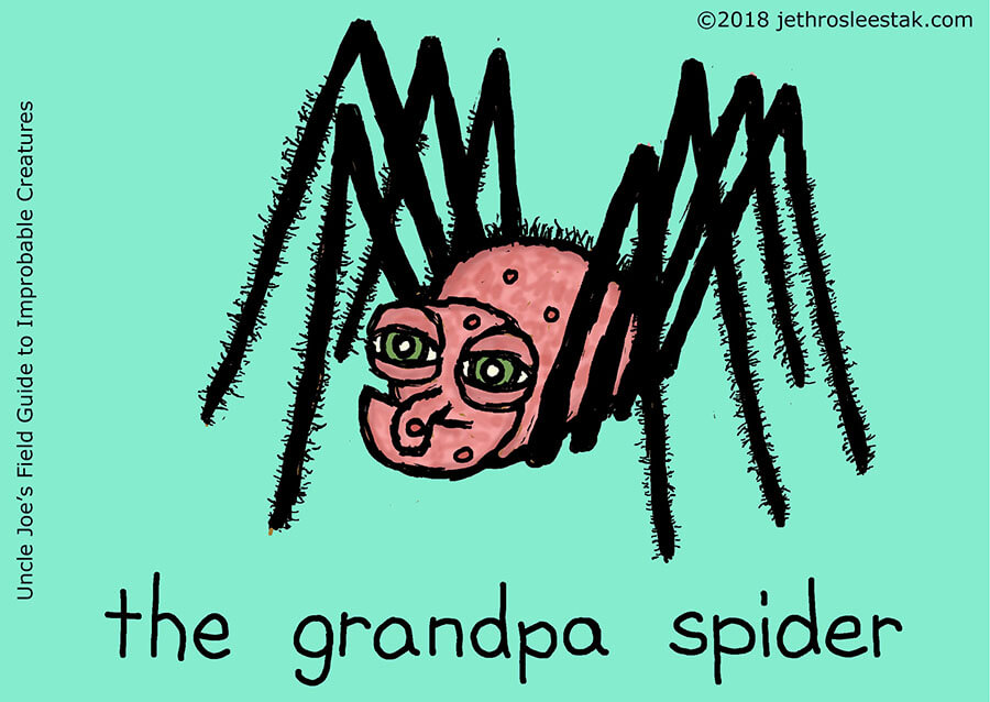 The Grandpa Spider Trading Card