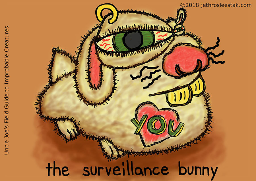 The Surveillance Bunny Trading Card