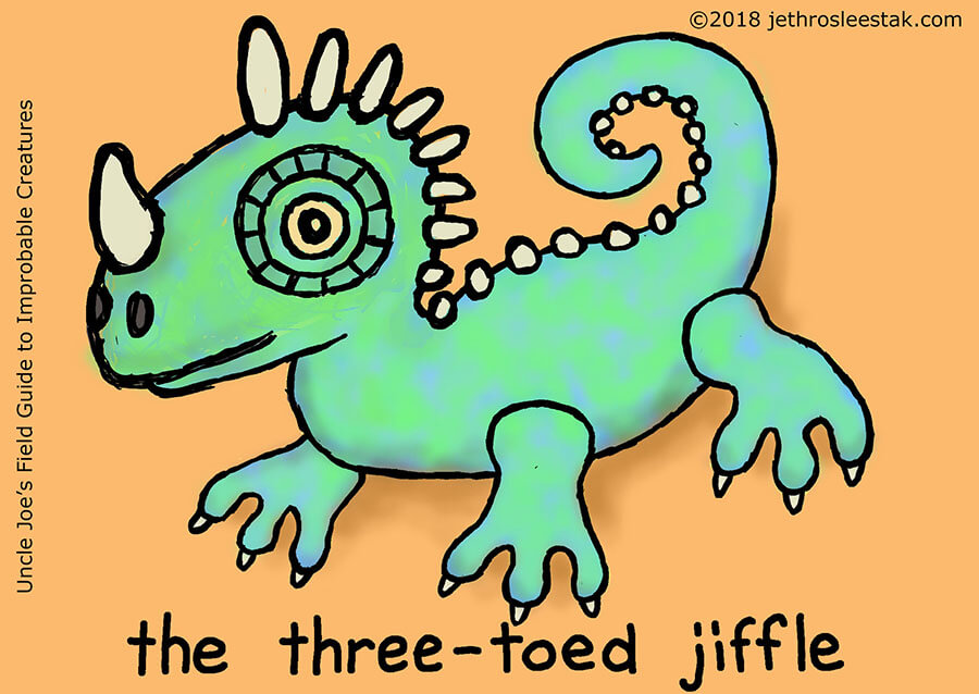 The Three-Toed Jiffle Trading Card