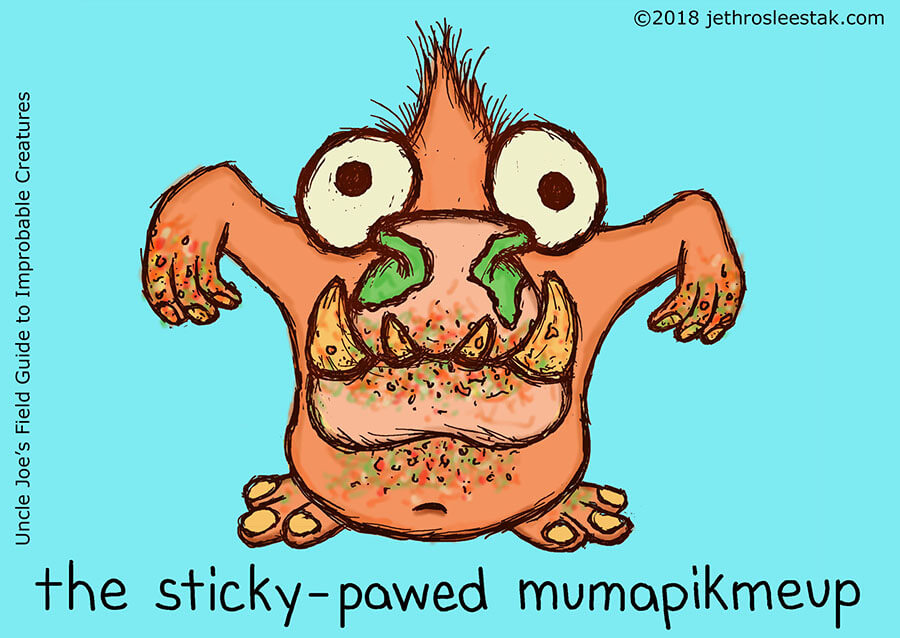 The Sticky-Pawed Mumapikmeup Trading Card