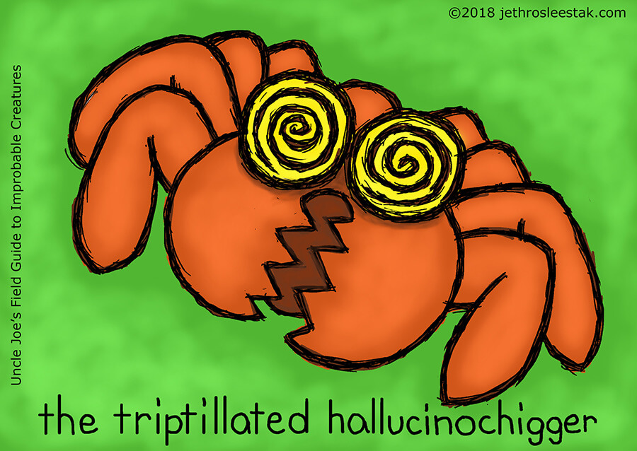 The Triptillated Hallucinochigger Trading Card