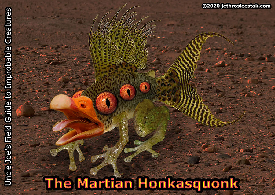 The Martian Honkasquonk Trading Card