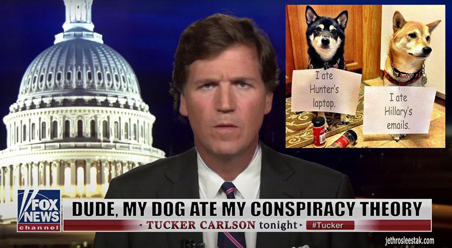 Meme Dog Ate Tucker Carlson's Conspiracy Theory