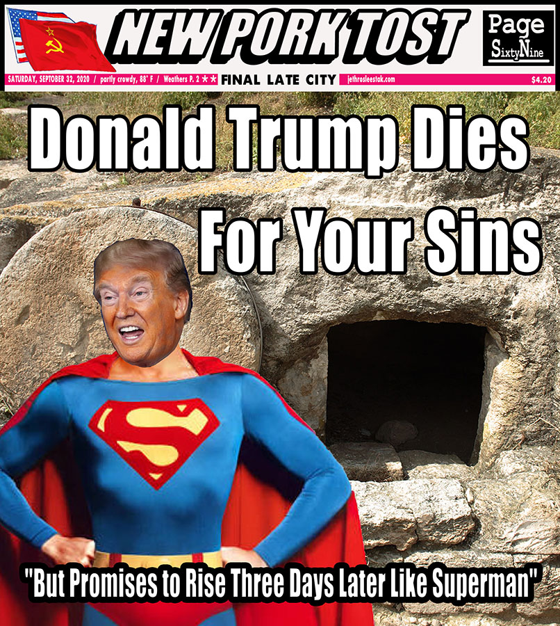 Meme Donald Trump Dies For Your Sins