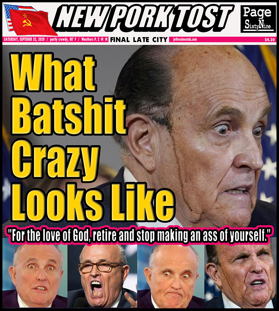 Meme: What Batshit Crazy Looks Like. For the love of God, retire and stop making an ass of yourself.
